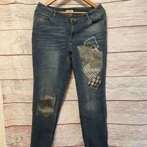 Monroe & Main Size 10 Patchwork Jeans